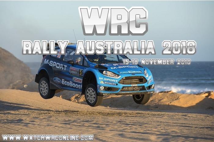WRC Rally Australia 2018 Live