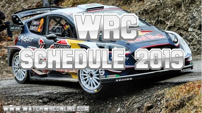 WRC Schedule 2019