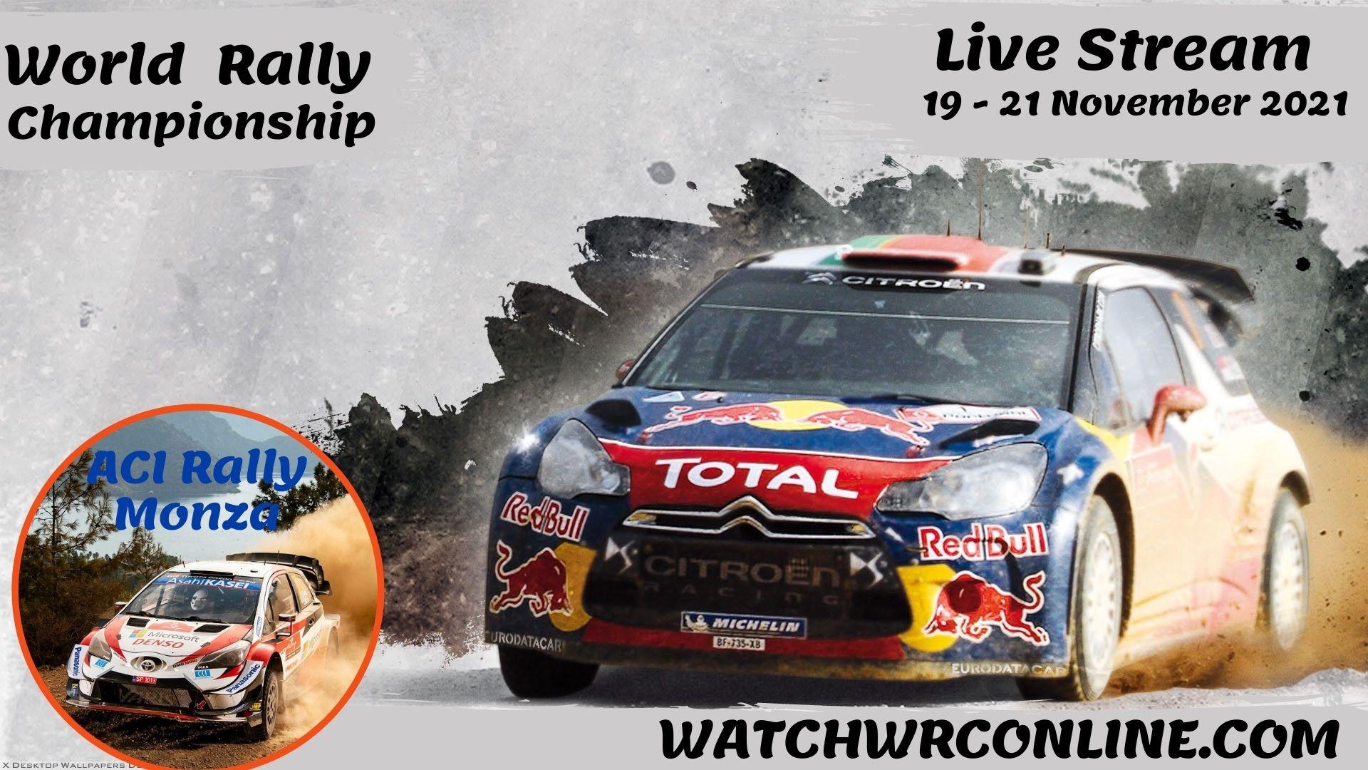 WRC Monza Rally Live Stream 2021